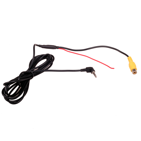 RCA to 2.5mm AV IN Converter Cable for Car Rear View Reverse Parking Camera to Car DVR Camcoder GPS Tablet adapter