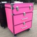 Женский косметический чемодан с колесиками  большие чемоданы для косметики  большие 3 вида цветов  2019