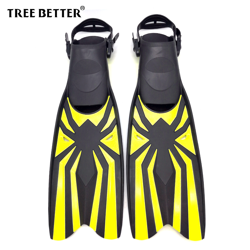 TREE BETTER Adult Snorkeling Diving Swimming Fins Open heel Professional Diver Swim Foot Flipper long Diving