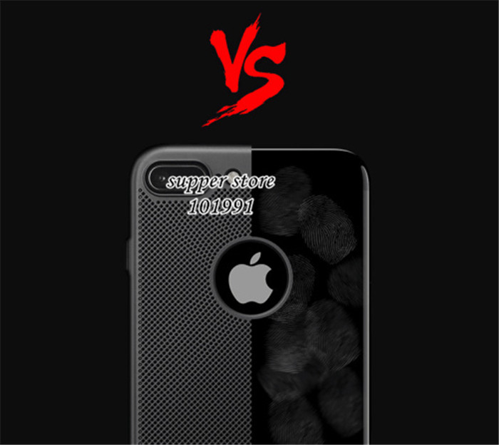 NEW Heat dissipation phone hard Back PC Cases For IP 7 8 Full Cover Case For 6s Plus IP 6 Protect shell