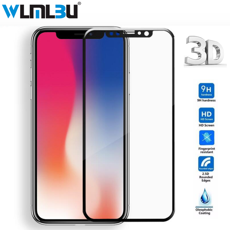 WLMLBU 3D Full Cover Tempered Glass For iPhone 7 6 6S Plus Screen Protector Tempered gla ...