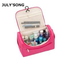 JULY'S SONG Large Capacity Travel Wash Bag Multifunctional Cosmetic Bag Solid Travel Storage Make Up Bag цена