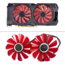 ใหม่ 85 มม. FDC10U12S9 C Cooler พัดลมเปลี่ยนสำหรับของเขา XFX การ์ดจอรุ่น RX 570 RS R9 285 390X RX580 กราฟิกการ์ดพัดลมระบายความร้อน