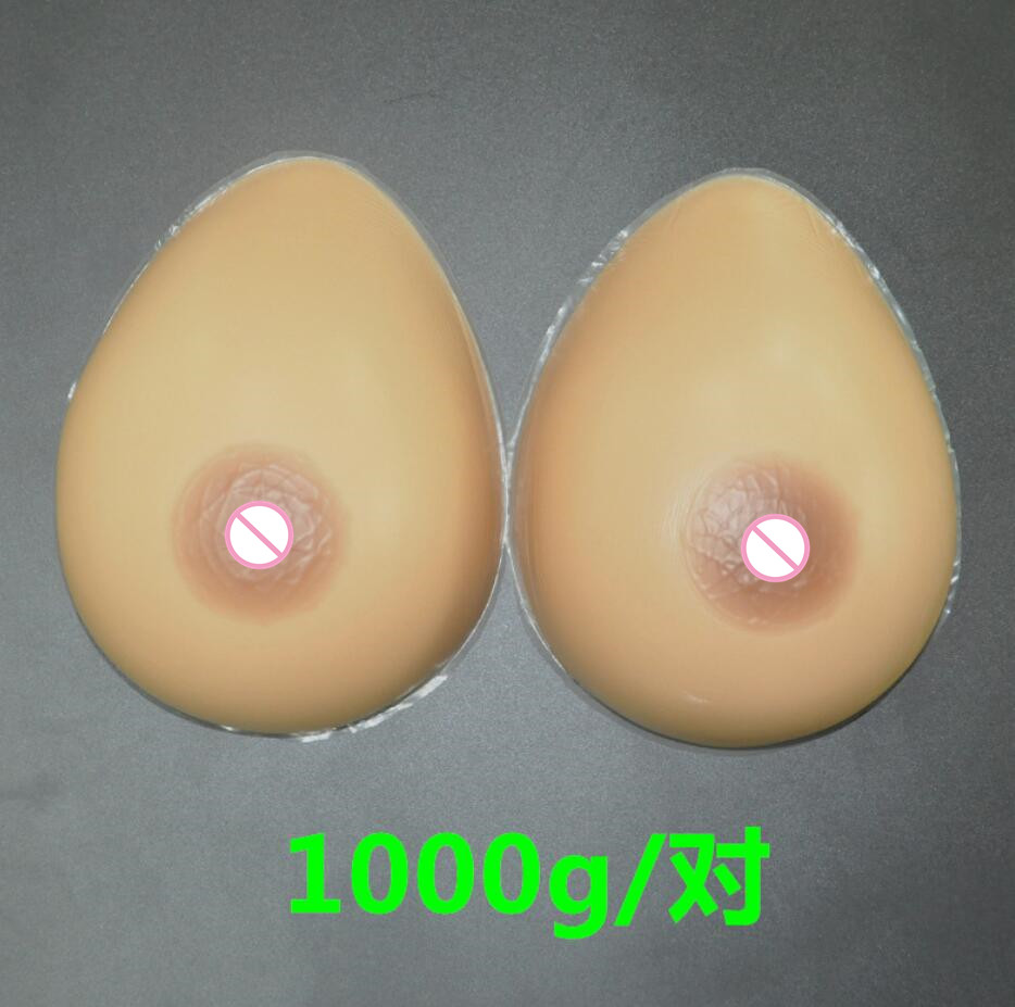 ФОТО 1000g/pair 34DD/36D Silicone Breast forms Mastectomy Artificial Silicone Fake Breast For Crossdressers And Transvestites