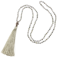 Antique Statement Tawny Tassel Buddha Pendant Necklace Crystal Silver Sakyamuni Wraps Bracelet Charm Jewelry Handmade Collars