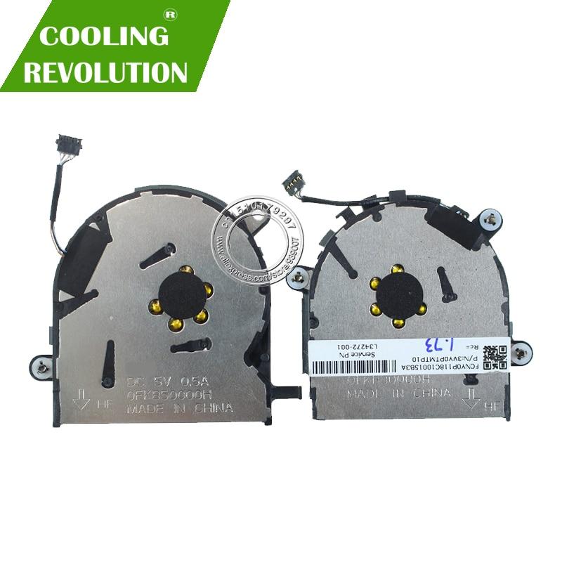 NEW Original CPU GPU Cooling fan for HP EliteBook x360 1030 G3 L34272 001 4PIN DC5V