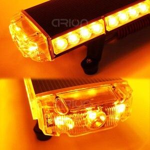 "Image 4 - 25"" to 63"" LED Strobe Light Bar Fireman Police Flashing Emergency Warning Car Truck lightbar Back W/ Brake Turn Lights Amber"