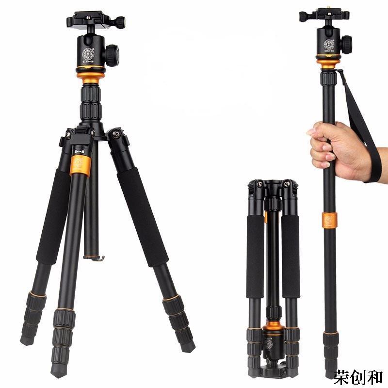 ФОТО New Upgrade Q999S Professional Photography Portable Aluminum Ball Head+Tripod To Monopod For Canon Nikon Sony DSLR Camera