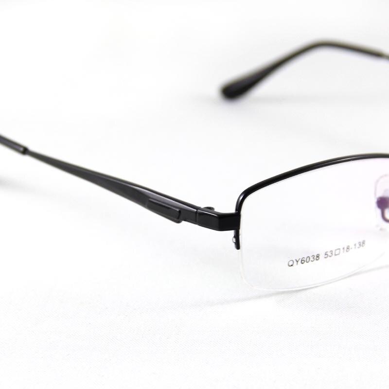 1545549106d73 HAO RUI EYEWEAR Óculos de Armação Homens Óculos Sem Aro Metade Quadro  Retangular Clássico Armações de Óculos Óptica em Armações de óculos de  Acessórios de ...