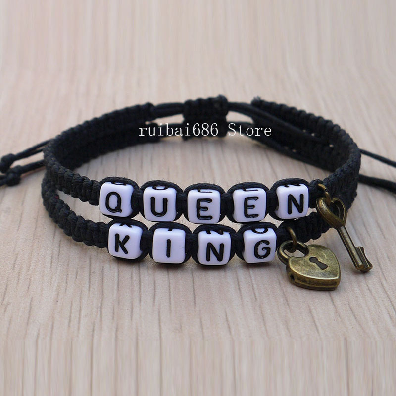 Aliexpress Com Buy His And Hers Couples Bracelet King Queen Loves