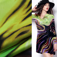 "100% pure silk satin silk fabric colorful stripe design 55"" width 19momme,SSC285"