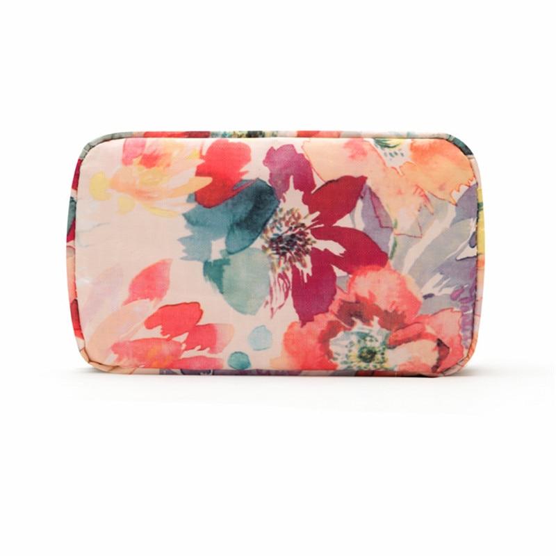 PINMOO Portable cosmetics brush organizer bag Travel toiletry storage bag Woman Dresser out of essential supplies
