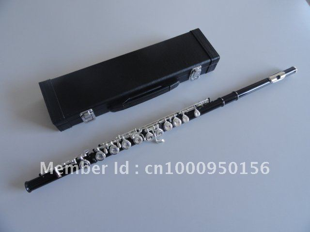Students 16 Hole Closed  Plus The E Key The Obturator Flute Instrument Black Body Silver Grant Flute With Case excellence color 16 closed hole purple flute e case c key