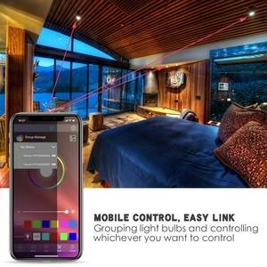 Image 2 - Nowa bezprzewodowa Bluetooth 4.0 inteligentna żarówka lampa oświetleniowa domu 10W E27 magia RGB + W LED zmień kolor żarówka ściemniania IOS /Android