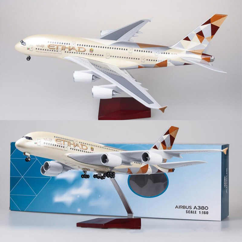 45cm Resin Etihad Airbus A380 Aircraft Model Etihad Airlines