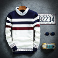 2016 the new sweater Men off two sweaters shirt collar stripe turtleneck sweater