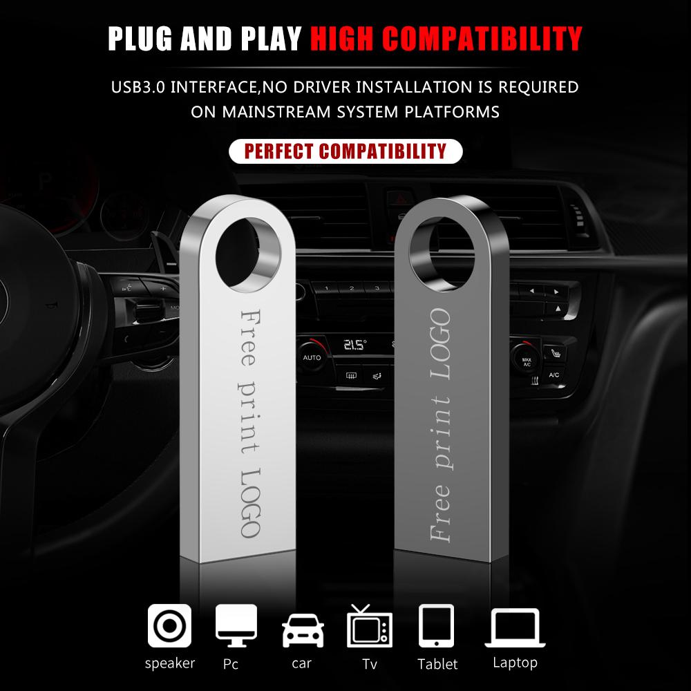 Usb Flash Drive 64gb Metal Pen Drive 16gb Waterproof Pendrive 32gb Usb Memory Stick 8gb 128gb Memoria Usb 3.0 Free Custom LOGO (1)