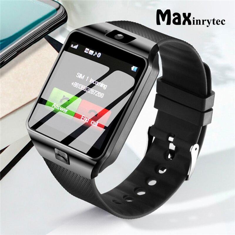 Maxinrytec bluetooth relógio inteligente smartwatch dz09 android chamada de telefone relogio 2g gsm cartão sim câmera para iphone samsung pk gt08 a1