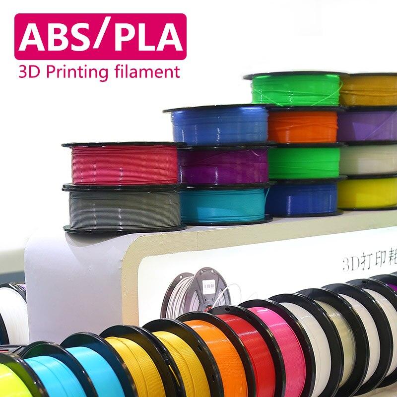 ABS PLA Plastic 3D Printer 1kg 1.75MM Supplies Filament for RepRap 3D filament ABS filament 1.75 impressora 3D filamento