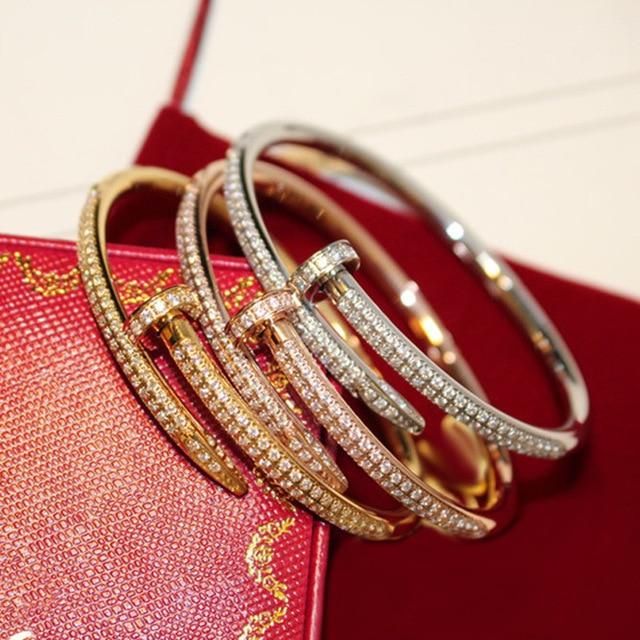 Brand love bracelet Titanium Steel luxury Bracelets & Bangles for women men Pulseiras Feminina high quality