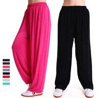 Modal Men Women yoga pants Loose bloomers Harem Pants Sport Pants Youga Modal Dancing Trouses Dance Comfy Pants 3 Colors