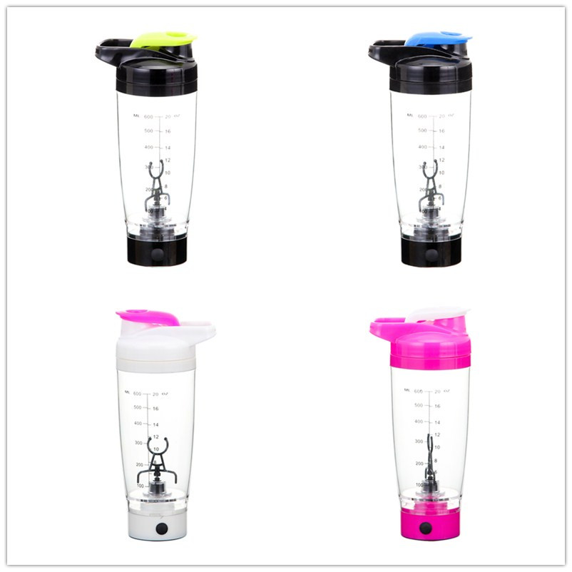 Protein Shaker Lot: 600ml Electric Automation Protein Shaker Blender My Water