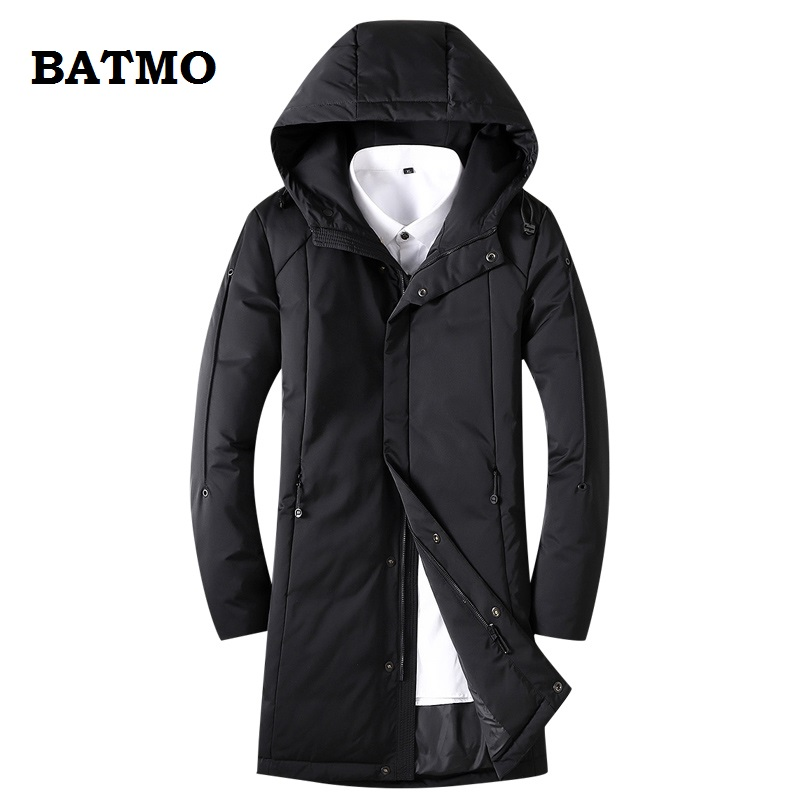 BATMO 2018 new arrival winter high quality warm 80% white duck   down   hooded jakcets men,winter men's   coat  ,plus-size AT1897