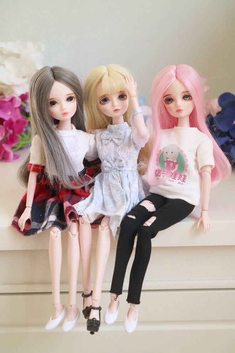 Oyuncaklar ve Hobi Ürünleri'ten Bebekler'de 1/6 BJD Blyth doll ortak Vücut makyaj De Dahil Olmak Üzere saç, boyalı gözler, giyim kız BUZLU'da  Grup 1