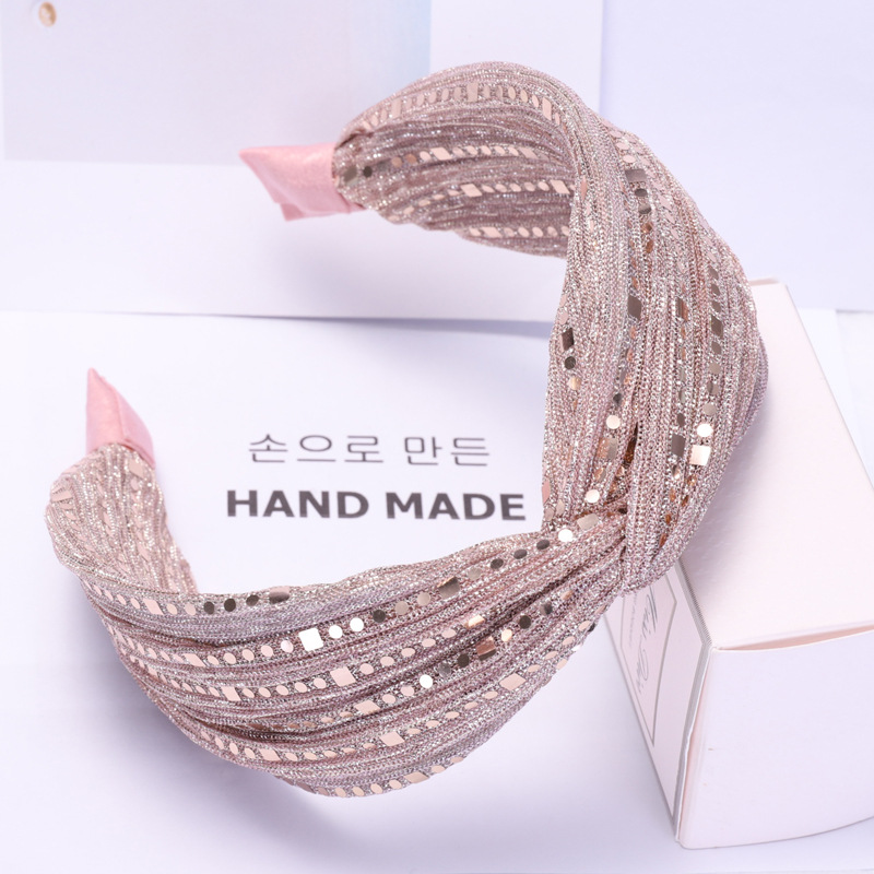 Wide Lace Headband for Women Sequin Glitter Korean Adult Kpop Hair Band Knot Luxury Makeup Hair Hoop 2019 Lace Hair Accessories in Women 39 s Hair Accessories from Apparel Accessories