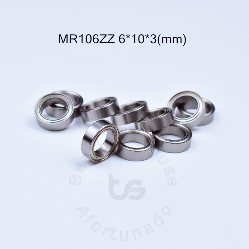 MR106ZZ free shipping bearing 6 10 3 mm ABEC 5 10pcs Metal Sealed Miniature Mini Bearing