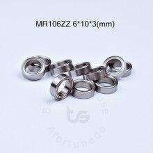 MR106ZZ Бесплатная доставка подшипник 6*10*3 (мм) ABEC-5 10 шт. из металла запечатанная миниатюра мини подшипник MR MR106 MR106ZZ миниатюрные подшипники