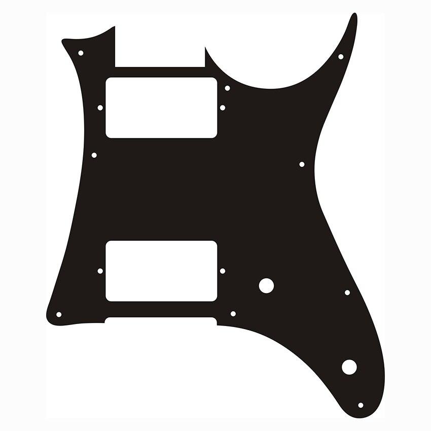 Pleroo pièces de guitare personnalisées-pour MIJ Ibanez GRX20 guitare Pickguard Humbucker pick-up plaque à gratter, 1Ply noir