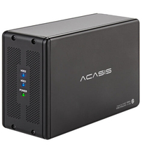 ACASIS DT-3608 Настольный 3,5-дюймовая Двойная-Порты и разъёмы последовательный интерфейс SATA Порты и разъёмы для USB3.0 мобильный жесткий диск массив коробки RAID жесткий диск коробка 19575TW
