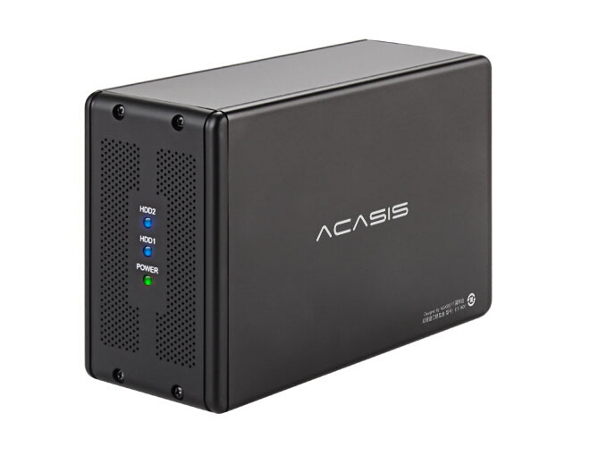 ACASIS DT-3608 Desktop 3.5-inch Dual-port SATA Serial Port To USB3.0 Mobile Hard Disk Array Box RAID Hard Disk Box 19575TW