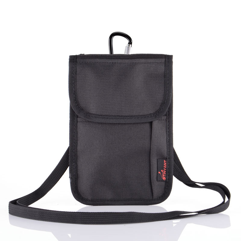 Shoulder-Holder Travel-Bag Crossbody Casual Nylon with Strap Durable Bum-Bag Pocket Tickets-Cards-Cover