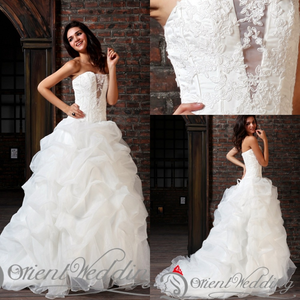 Wedding Dress Ball Gown Style: Fashion Elegant Country Western Style Custom Made China