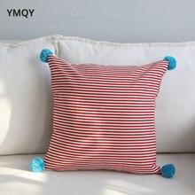 Ins Influencer funda de almohada de algodón funda de almohada decorativa almohada cubre 45 * 45cm cojín de asiento