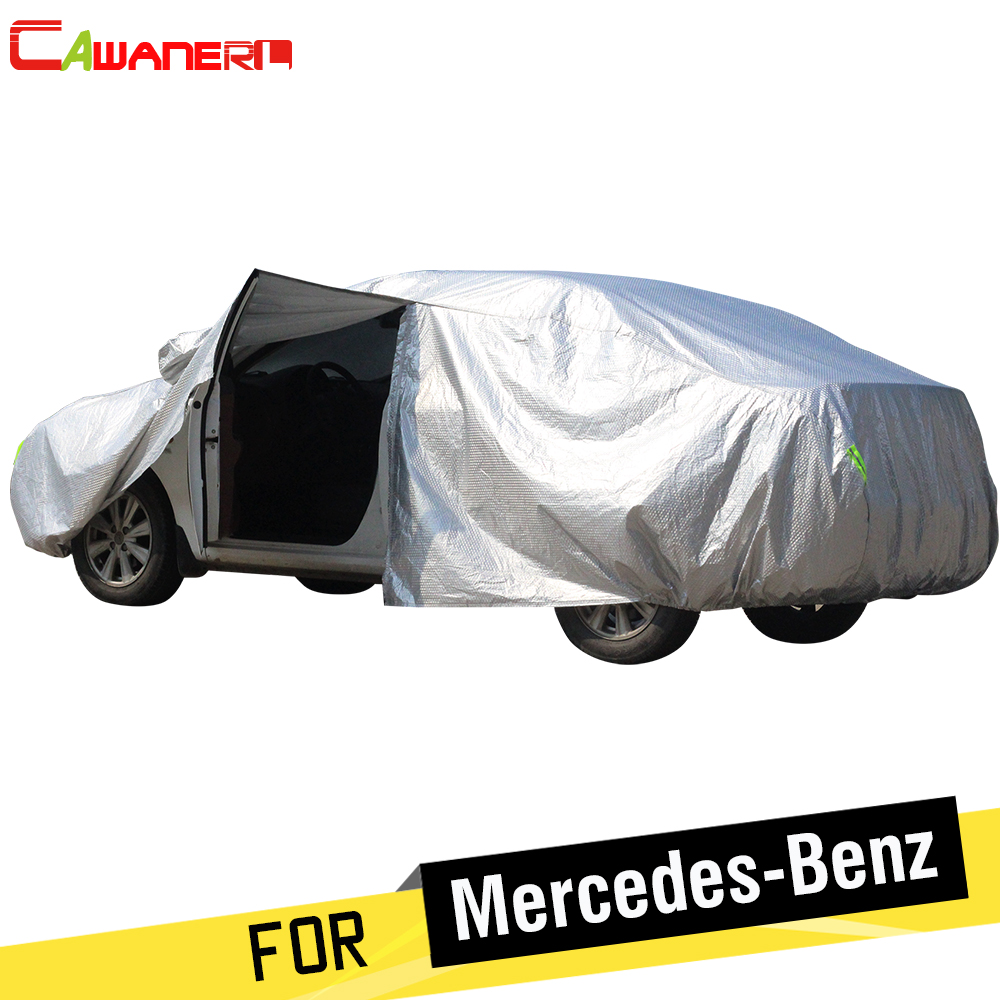 Cawanerl Thicken Cotton Car Cover Waterproof Sun Snow Rain Hail Protection Cover For Mercedes Benz C-Class W202 W203 W204 W205 buildreamen2 waterproof car covers sun snow rain hail scratch dust protection cover for mercedes benz gle 350 400 450 300 320