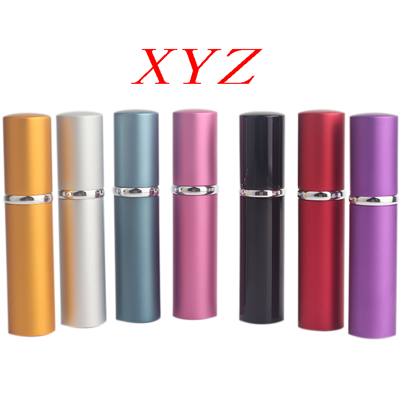 XYZ Hot Sale Mini Portable For Travel Aluminum Refillable Perfume Bottle With Spray&Empty Cosmetic Containers With Atomizer 6pieces lot 8ml mini portable colorful glass perfume bottle with atomizer empty cosmetic containers for travel