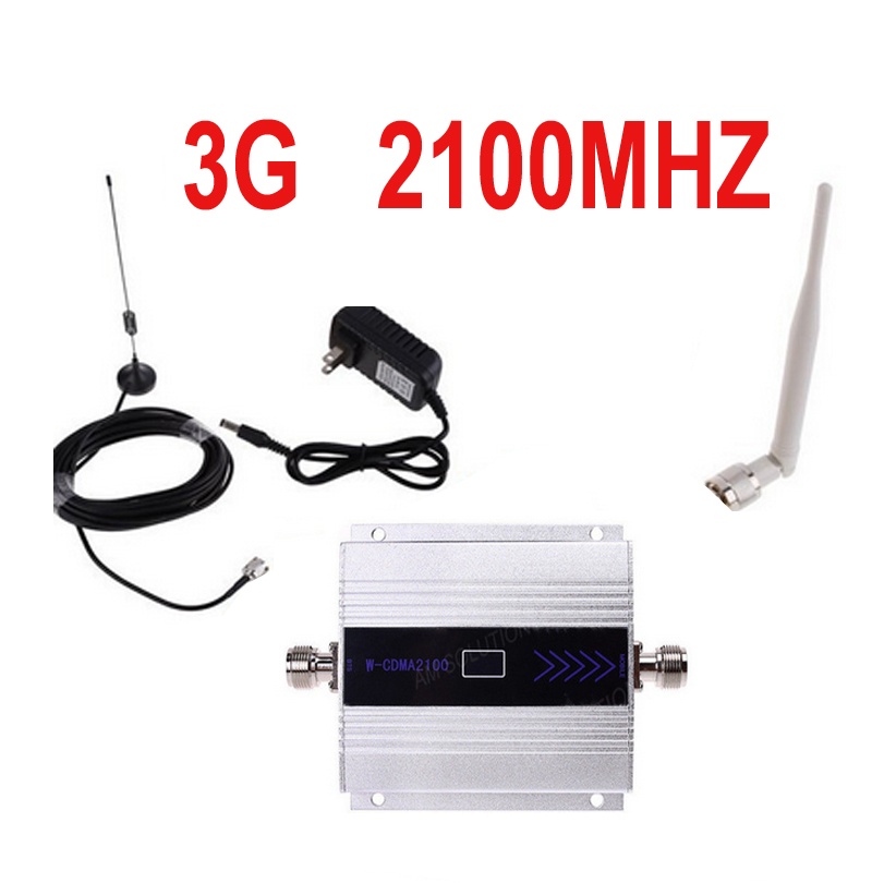 W/ Cable & Antenna 3G Gain 55dbi LCD Display Function Max.500square Meter Work 3G WCDMA Mobile Phone Signal Booster And Repeater