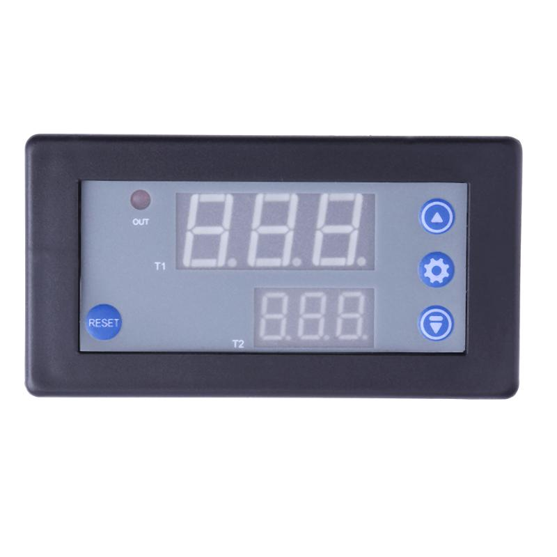 DC 12V 10A 1500W Timing Delay Relay Module Cycle 0-999h Timer Digital LED Dual Display Professional Smart Home Accessory led digital display circle delay time relay module time adjustable blue 12v