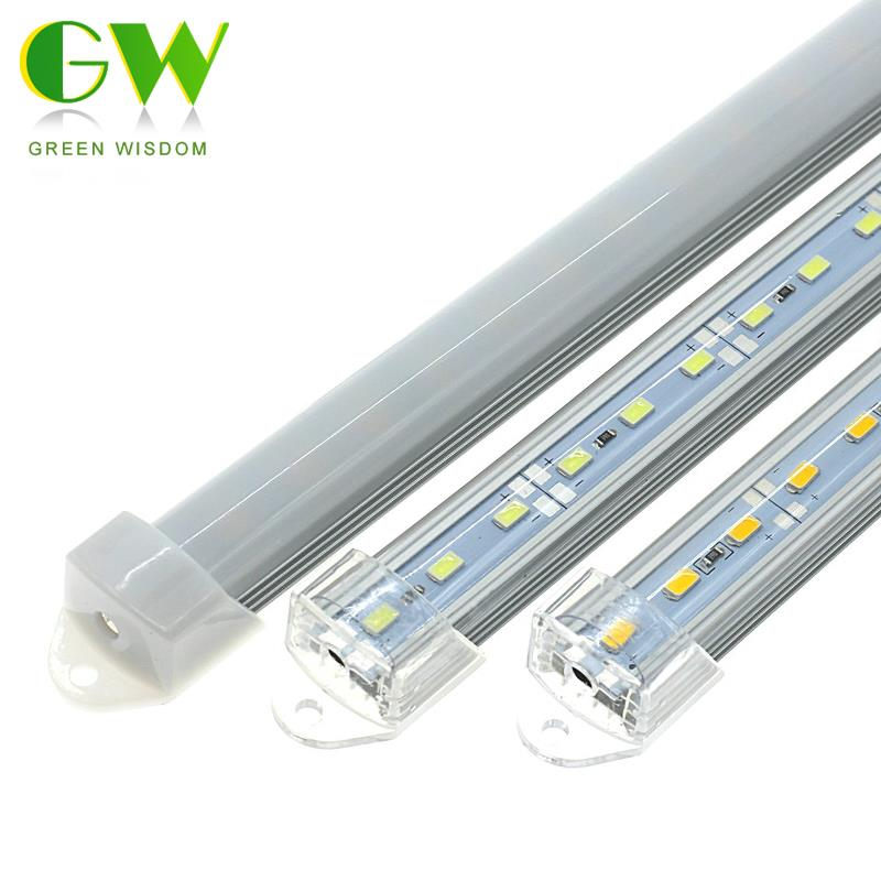 LED Bar Lights DC12V 5730 LED Rigid Strip 50cm LED Fluorescent Tube With U Aluminium Shell + PC Cover Indoor Lighting 5Pcs/lot