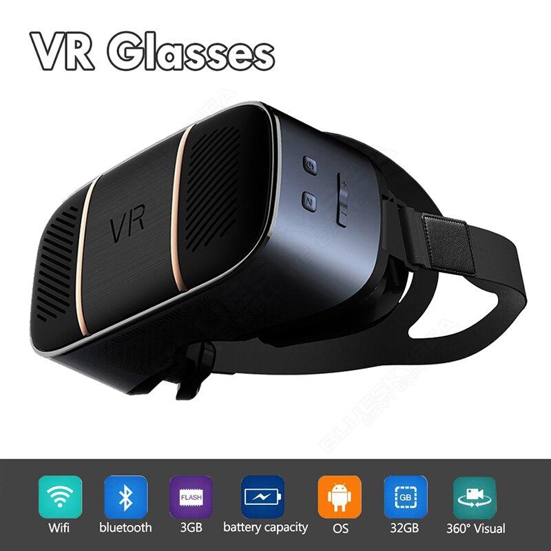 V3 2 K pantalla 2560*1440 HDMI todo en uno WiFi 3D VR gafas de realidad Virtual vasos auriculares gafas HDMI para juego de la película