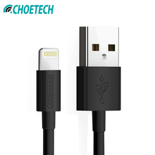 For MFi iPhone Usb Cable CHOETECH 2.4A Lightning Cable USB 2.0 Fast Charger for iPhone XR XS Max X 8 7 6S Plus for iPad