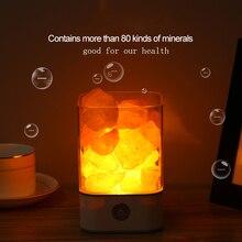 цена на Usb Led Crystal Himalayan Salt Lamp Natural Stone Lava Lamp Night Light Air Purifier Mood Creator Indoor Bedroom Home Table Lamp