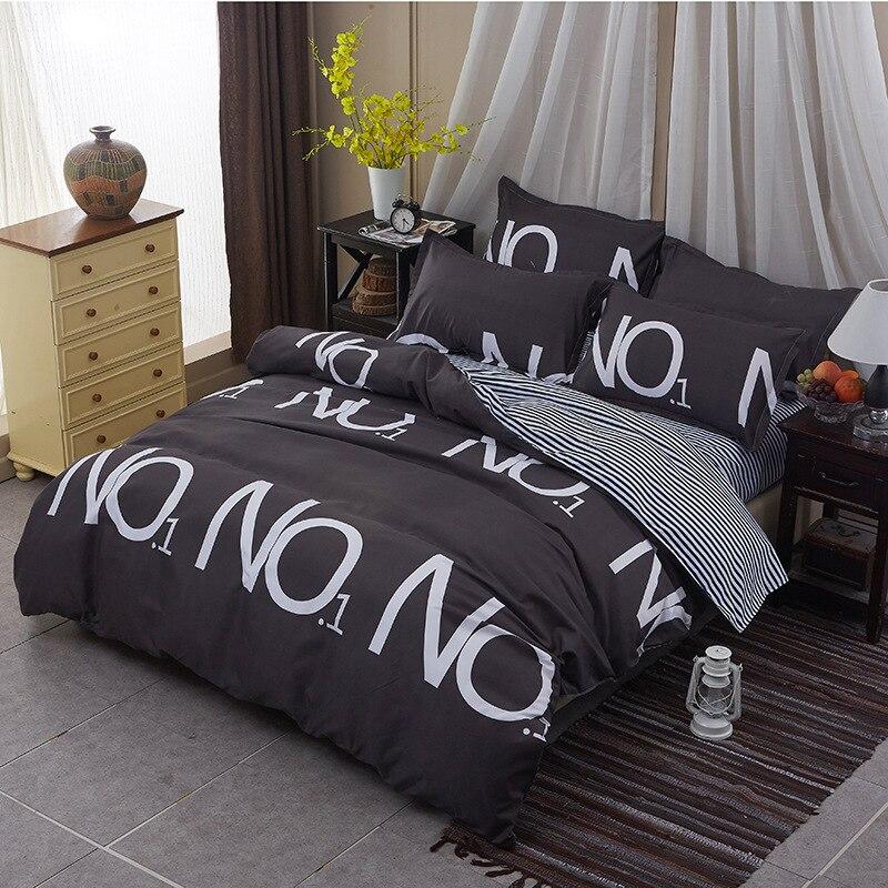 black bedding kids no 1 boys girls star bedding set white bed linen leopard duvet cover bed. Black Bedroom Furniture Sets. Home Design Ideas