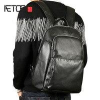 Aetoo первый слой кожи сумка мужской кожаный рюкзак прилив новых Япония и Южная Корея отдых деловых поездок Кот