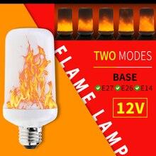 Led 12V Flame Bulb E27 Fire Lamp Dynamic Flickering Burning E26 Candle Light Vintage Ampoule E14 decoration maison