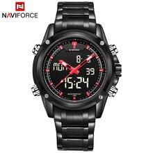 2016 New Luxury Brand NAVIFORCE Hombres Del Ejército Militar Reloj de Los Hombres Reloj de cuarzo LED Digital Hombres Deportes Reloj de Pulsera de Acero Completo relojes