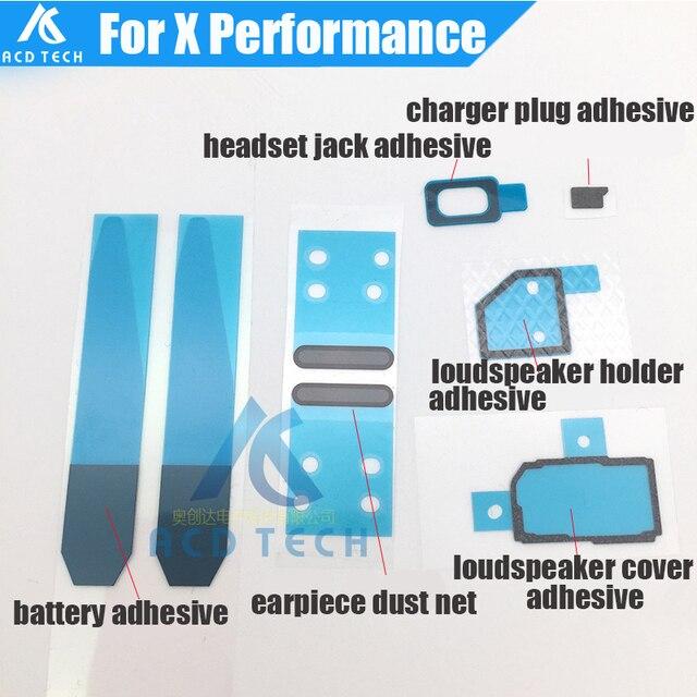 8pcs/set Original EarSpeaker Net Charger Port Hole Jack Battery Adhesive Glue Full Set For Sony Xperia X Performance F8132